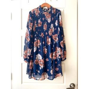 Long Sleeve Floral Dress | As U Wish